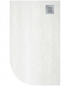 Slate 1000X800 Offset Quadrant Shower Tray RH White - Anti Slip
