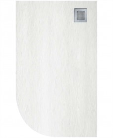 Slate 1200X900 Offset Quadrant Shower Tray RH White - Anti Slip