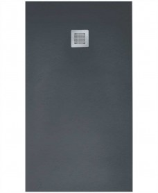 Slate 1000 X 900 Shower Tray Anthracite - With Free Shower Waste