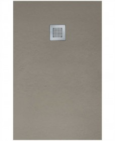 Slate 1000 X 900 Shower Tray Taupe - With Free Shower Waste