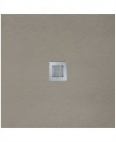 SLATE 800 x 800 Shower Tray Taupe - with FREE shower waste