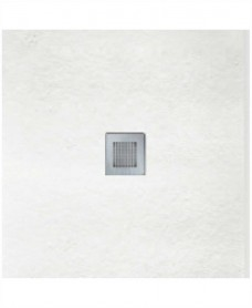 SLATE 900 x 900 Shower Tray White with FREE Waste
