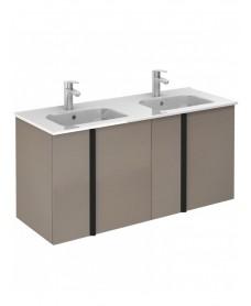 Athena Smokey Grey Wall Hung 120 Vanity Unit and SLIM Basin - 4 Door