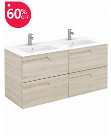 Pravia Maple 120 cm Wall Hung Double Vanity Unit and SLIM Basins - **60% Off