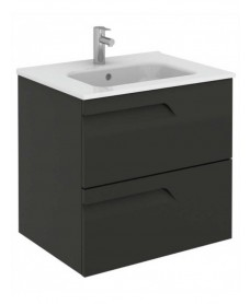 Pravia Gloss Grey 60 cm Wall Hung Vanity Unit and SLIM Basin