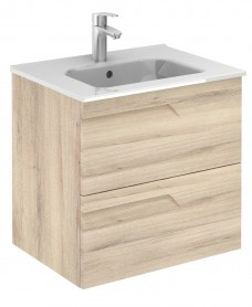 Pravia Natural Beige 60 cm Wall Hung Vanity Unit and SLIM Basin