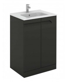 Pravia Gloss Grey 60 cm Floor Standing Vanity Unit and SLIM Basins