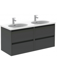 Sparta Anthracite 120cm Vanity Unit 4 Drawer & Idea Basin