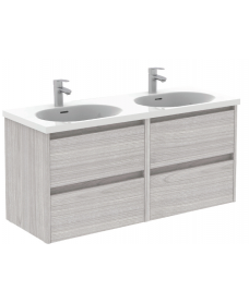 Sparta Sandy Grey 120cm Vanity Unit 4 Drawer & Idea Basin