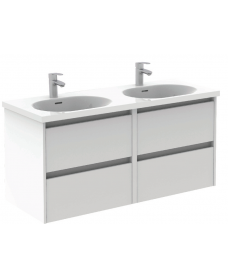 Sparta Gloss White  120cm Vanity Unit 4 Drawer & Idea Basin