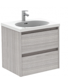 Sparta Sandy Grey 60cm Vanity Unit 2 Drawer & Idea Basin