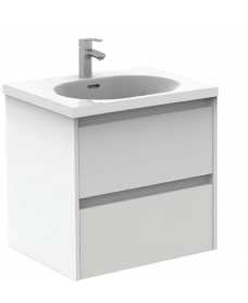 Sparta Gloss White 60cm Vanity Unit 2 Drawer & Idea Basin