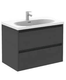 Sparta Anthracite 80cm Vanity Unit 2 Drawer & Idea Basin
