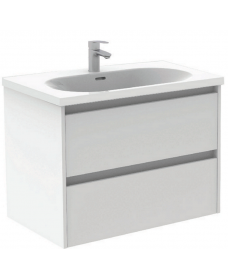 Sparta White 80cm Vanity Unit 2 Drawer & Idea Basin