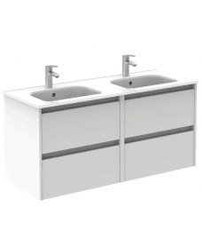 Sparta Gloss White 120cm Vanity Unit 4 Drawer & Slim Basin