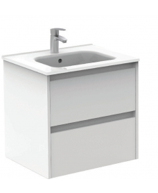 Sparta Gloss White 60cm Vanity Unit 2 Drawer & Slim Basin
