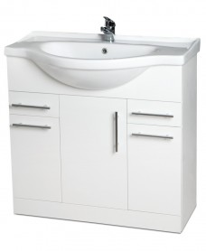 Blanco 75cm Vanity Unit, Basin & Tap & basin Waste