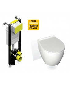 Havana Wall Hung Toilet with Soft Close Seat with Fastfix Frame