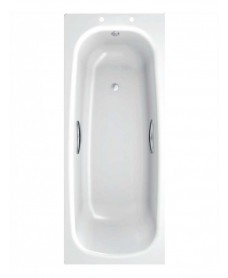Stratum Single Ended 1600 x 700 Steel Bath - With Grips Only