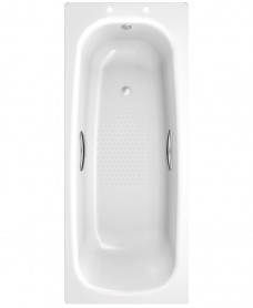 Stratum Single Ended 1700 x 700 Steel Bath - with Grips and Anti Slip