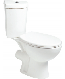 Slavia Close Coupled Corner Toilet and Soft Close Seat