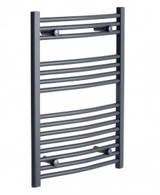 Curved 800 x 500 Heated Towel Rail Anthracite *A Further 10% off with Code BF10