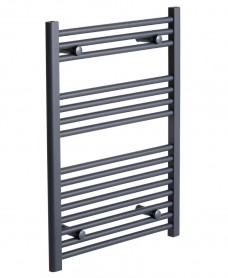 Straight 800 x 500 Heated Towel Rail Anthracite *A Further 10% off with Code BF10