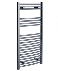 Curved 1200x500 Heated Towel Rail Anthracite