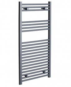 Straight 1200x600 Heated Towel Rail Anthracite *A Further 10% off with Code BF10