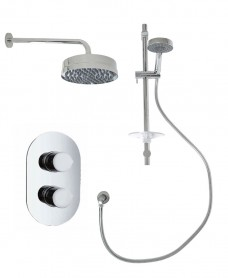 Jupiter Oval Thermostatic Shower Kit E