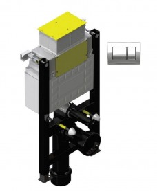 Fastfix High Frame for Wall Hung Toilet - Front & Top access -  Square Controls -W420 x H780-880