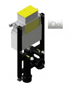 Fastfix High Frame for Wall Hung Toilet - Front & Top access -  Round Controls - W420 x H780-880