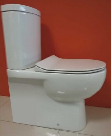 Tonique Fully Shrouded Toilet & SLIM Soft Close Seat - Comfort Height