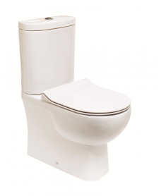 RAK Tonique Fully Shrouded Toilet & SLIM Soft Close Seat - Comfort Height