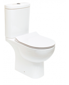 Tonique Close Coupled Toilet & SLIM Soft Close Seat - Comfort Height - Projection 625mm