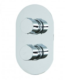 Jupiter Thermostatic Shower Valve Oval with Diverter