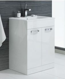 Naturo 60cm 2 Door White Vanity Unit