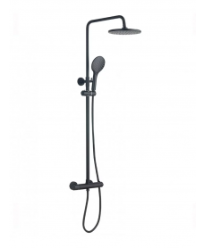 Mayna Black Round Thermostatic Shower Kit