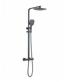 Mayna Black Square Thermostatic Shower Kit