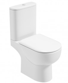 Verona Close Coupled Toilet and Soft Close Seat - RIMLESS