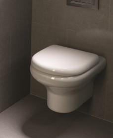 RAK Compact Wall Hung Toilet and Soft Close Seat