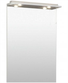 Blanco White 60cm White Mirror with LED Light & Pullcord