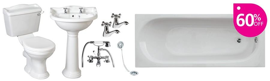 Oxford 1700 Traditional Bathroom Suite