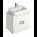 Ava White 65 cm Wall Hung Vanity Unit and BROOK Countertop Basin