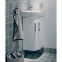 Twyford E200 320 White Corner Vanity Unit Wall Hung
