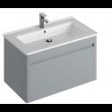 Elora 60cm Wall Hung Vanity Unit Pearl Grey