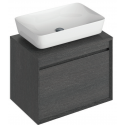 Regina 65cm Base Unit Dark Wood and Enya Basin