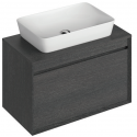 Regine 80cm Base Unit Dark Wood & Enya Basin