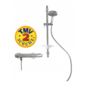 EVA T Bar Thermostatic Shower Kit - Ocean