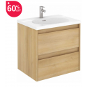 Vichy Oak 60 cm Wall Hung Vanity Unit and Aida Basin - ** 60% Off